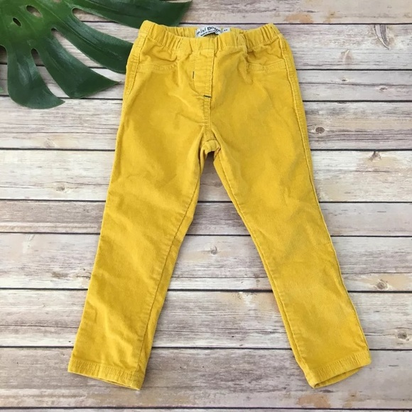 select for clearance good texture discount for sale Mini Boden Girls mustard yellow Corduroy pants